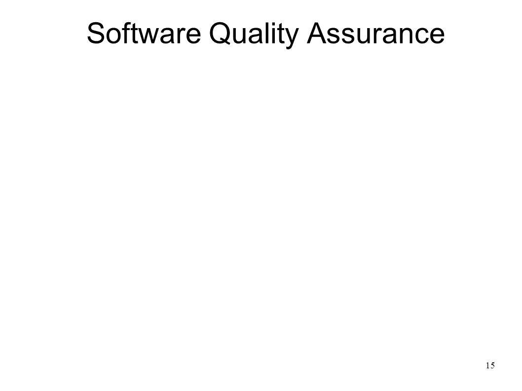 15 Software Quality Assurance