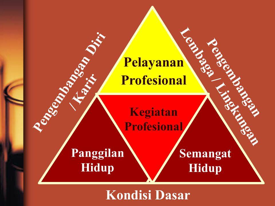 Kondisi Dasar Semangat Hidup Panggilan Hidup Kegiatan Profesional Pelayanan Profesional Pengembangan Lembaga / Lingkungan Pengembangan Diri / Karir