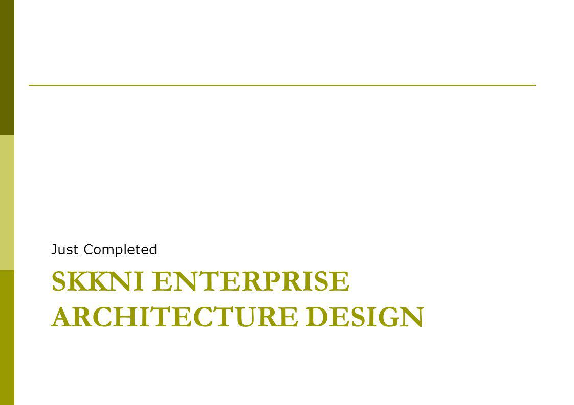 Beberapa EA – Framework dan Standard  Value chain for a business as outlined by Michael Porter  Zachman Framework,  TOGAF (The Open Group Architecture Framework – a widely used framework including an architectural Development Method and standards for describing various types of architecture  DODAF (US), MODAF (UK), DNDAF (Canada)  IASA  ISO 15704 (EA), ISO 15288 (SE), ISO 12207 (SW)