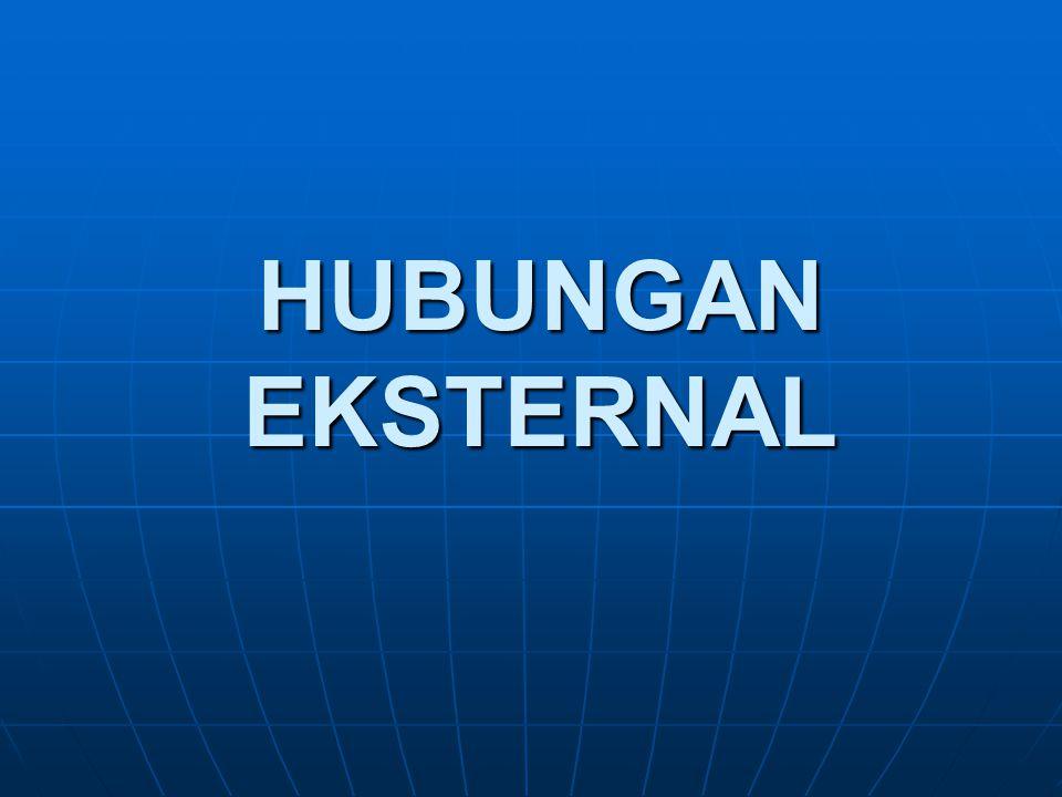 HUBUNGAN EKSTERNAL
