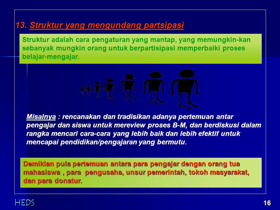 15 12. Perbaikan Prosedur Antar Fungsional Pengajaran dan pendidikan yang bermutu bukan hasil karya orang secara individual, tetapi hasil kerja banyak