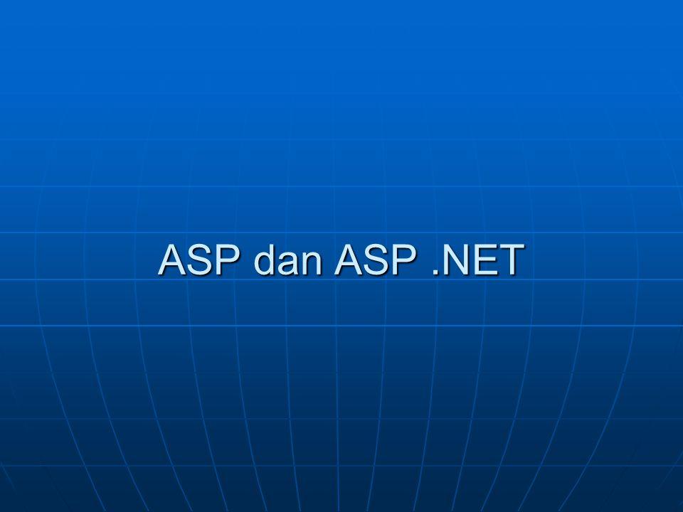 ASP dan ASP.NET
