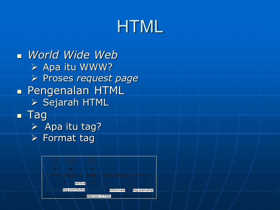 HTML World Wide Web World Wide Web  Apa itu WWW.