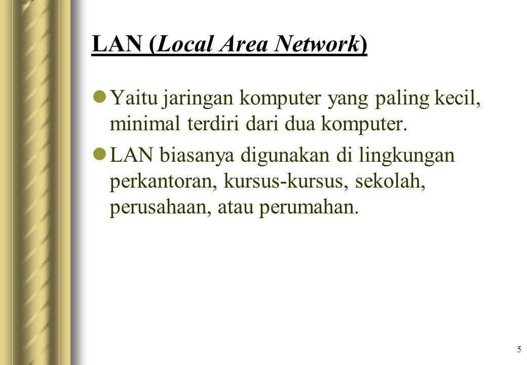 6 Untuk mempermudah dalam pola hubungan antara satu komputer dengan komputer lainnya, LAN memiliki beberapa pola yang disebut Topologi jaringan.