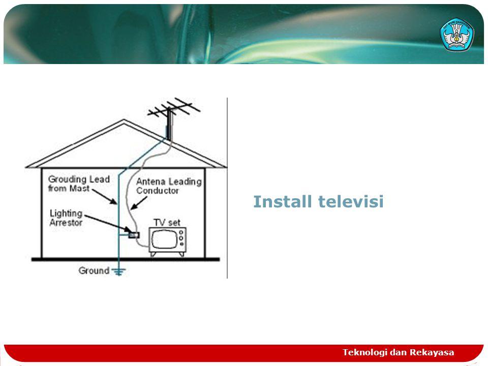 Teknologi dan Rekayasa Install televisi
