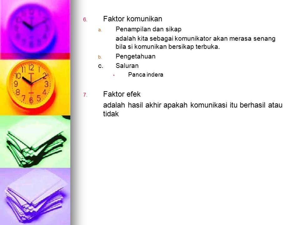 6.Faktor komunikan a.