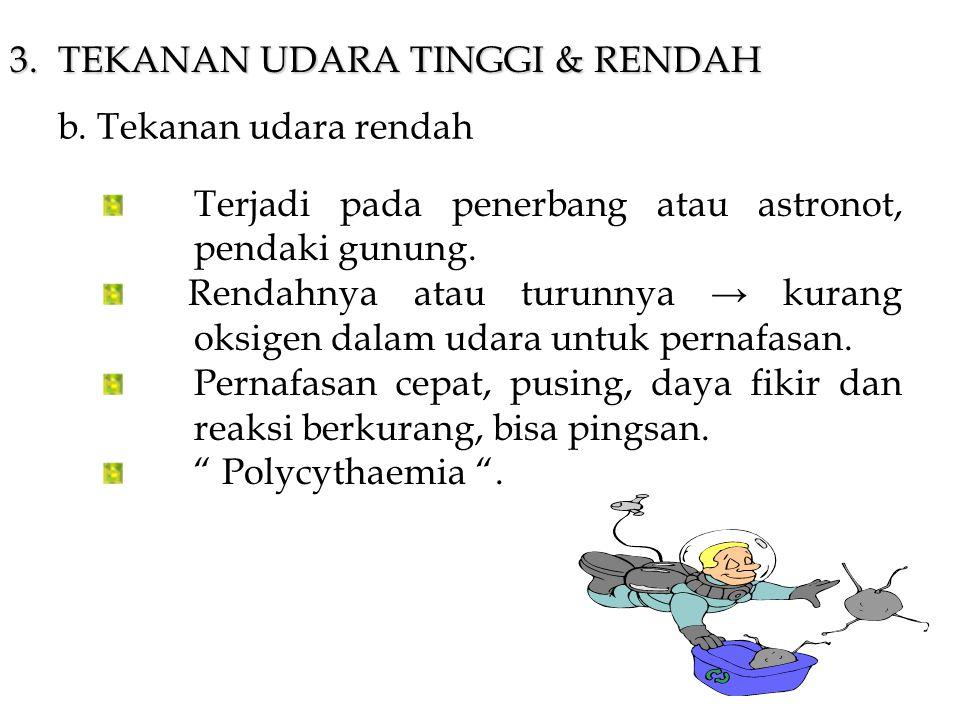 3.TEKANAN UDARA TINGGI & RENDAH b.