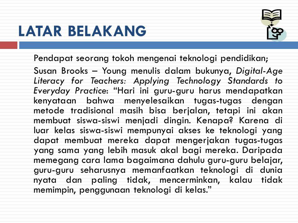 LITERATUR PENDUKUNG  Lumsdaine (1964) dalam Romiszoswki (1981: 12) menyebutkan bahwa penggunaan istilah teknologi pada pendidikan memiliki keterkaitan dengan konsep produk dan proses.