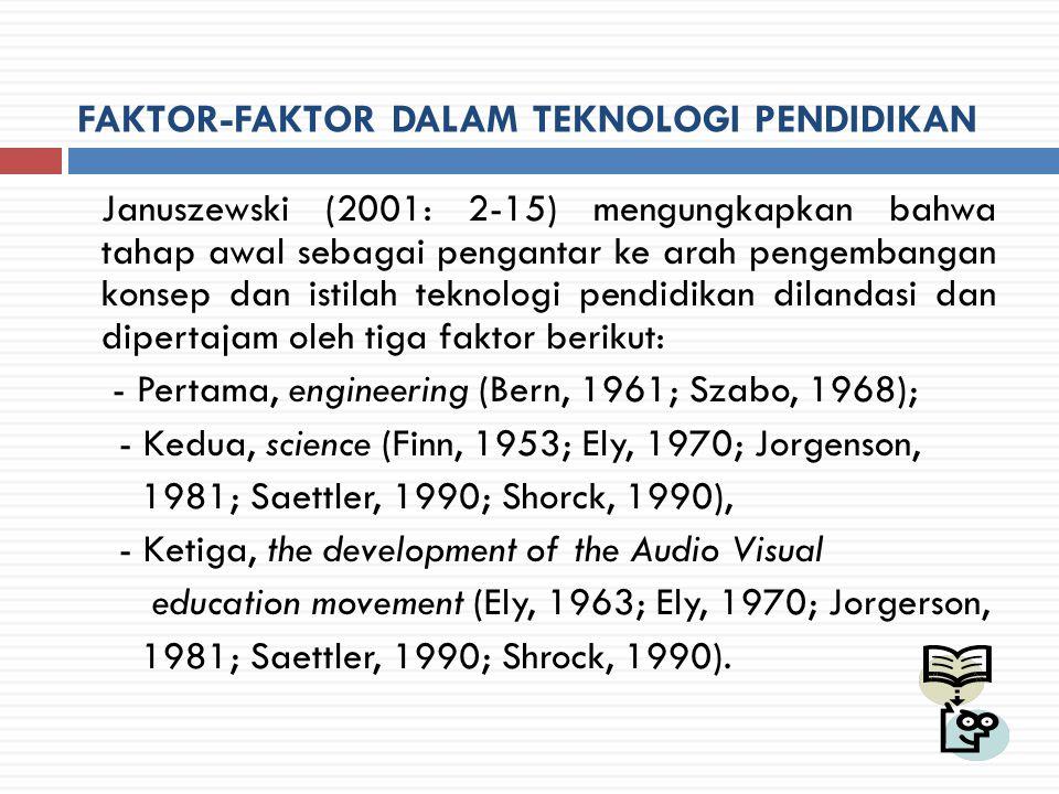 Engineering  Pengkajian diawali dari makna engineering yang menggambarkan kegiatan riset dan pengembangan serta usaha menghasilkan teknologi untuk digunakan secara praktis.