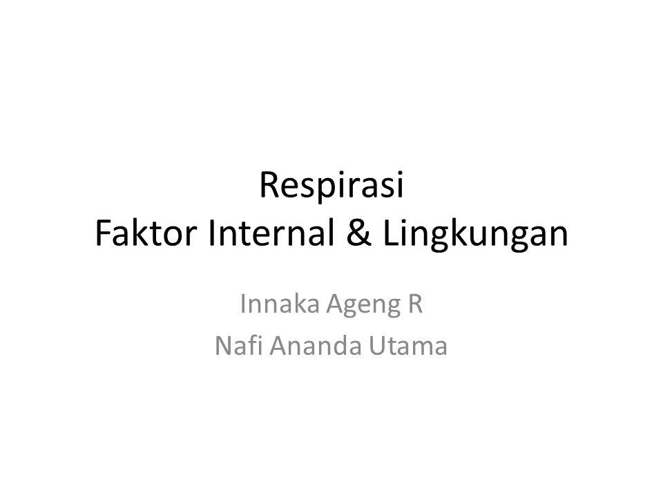 Respirasi Faktor Internal & Lingkungan Innaka Ageng R Nafi Ananda Utama