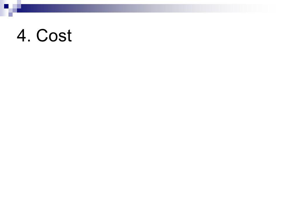 4. Cost
