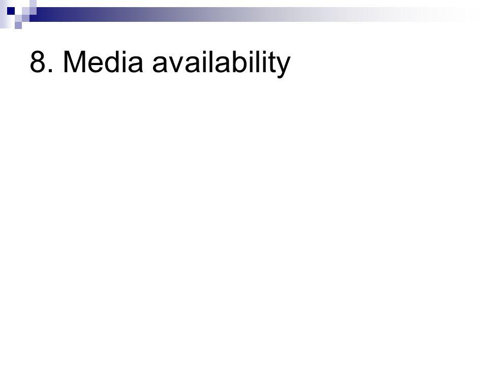 8. Media availability