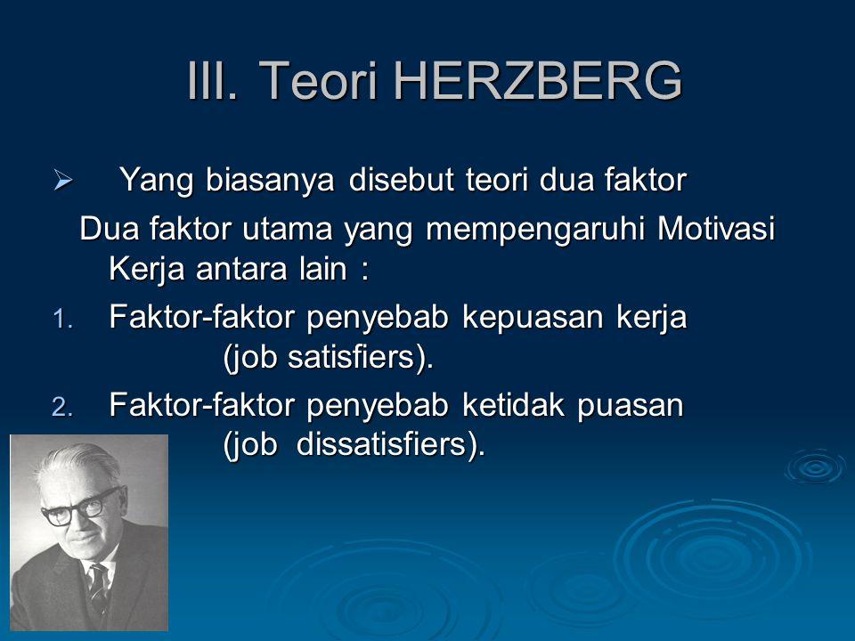 III.Teori HERZBERG III.