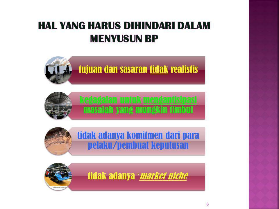 7 Apa yang harus dilakukan untuk menyusun BP .