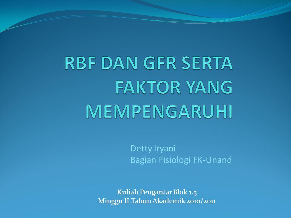 Kuliah Pengantar Blok 1.5 Minggu II Tahun Akademik 2010/2011 Detty Iryani Bagian Fisiologi FK-Unand