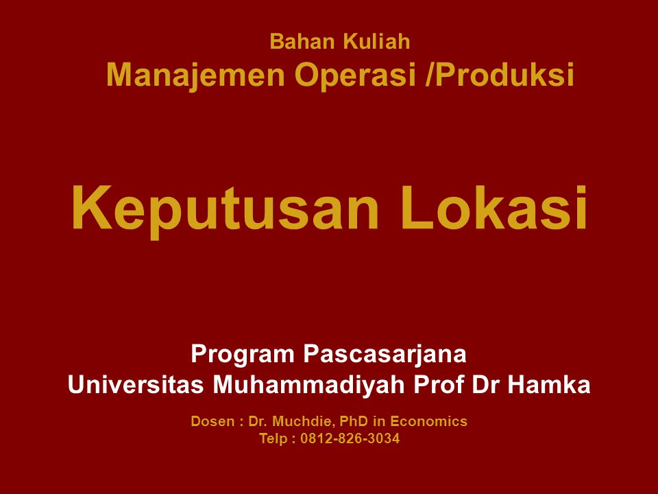 Organising Job Design, Work Measurement Project Management Controlling Inventory Control Material Requirement Planning Planning Planning Conversion System Operations Strategis Product and Process Choices Operation Capacity Facility Location Layout Planning Schedulling Schedulling System Operation Schedulling Pokok Bahasan Proses Konversi INPUTs OUTPUTs Random Fluctuations