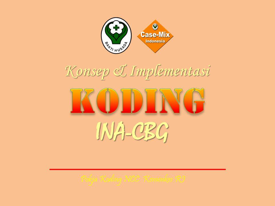Pokja Koding NCC Kemenkes RI INA-CBG Konsep & Implementasi