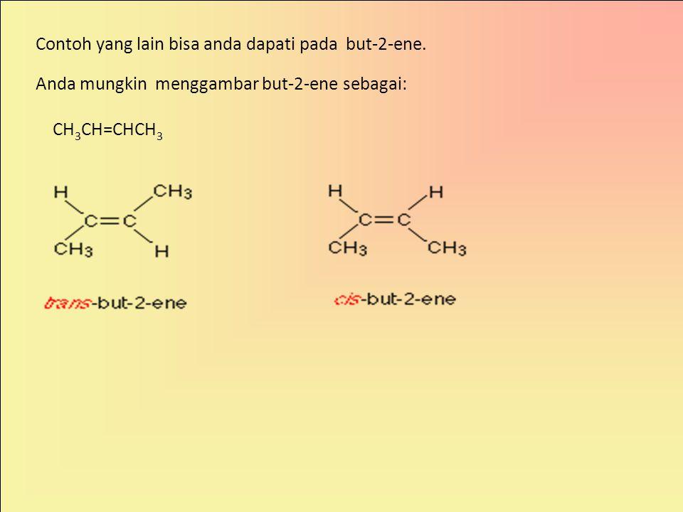 Bagaimana dengan karbon-karbon ikatan rangkap, seperti pada 1,2-dikloroeten.