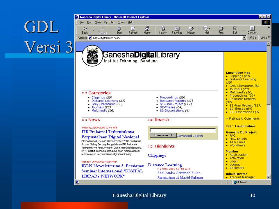Ganesha Digital Library30 GDL Versi 3
