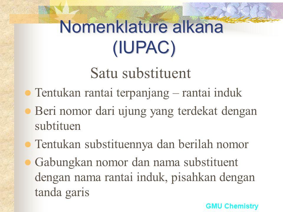 GMU Chemistry Gugus alkil yang umum (C 1 sampai C 4 )