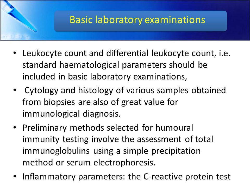 A non-specific immunological profile testing