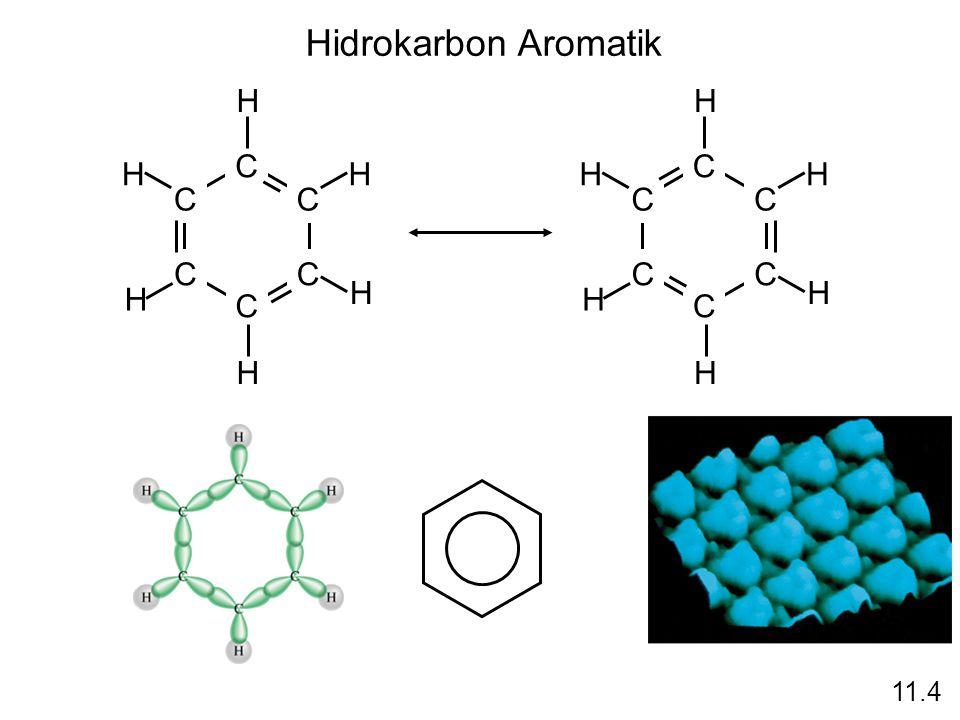 Hidrokarbon Aromatik C C C CC C H H H H H H C C C CC C H H H H H H 11.4