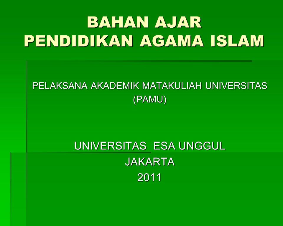 MODUL III AGAMA DAN AGAMA ISLAM A.Pengertian Agama dan Agama Islam 1.Pengertian agama a.
