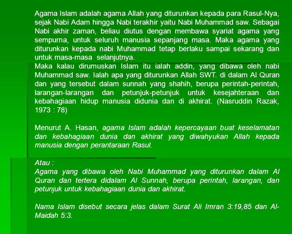 B.Klasifikasi Agama 1.
