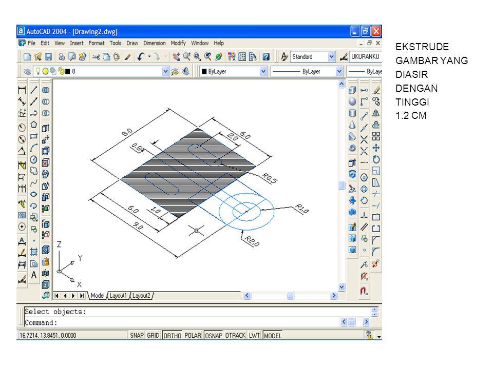 MELALUI PANDANGAN SW ISOMETRIC FILLET SUDUT F DGN R=0.3CM FILLET SUDUT G DGN R=0.8CM FILLET SUDUT H DGN R=0.3CM FG H