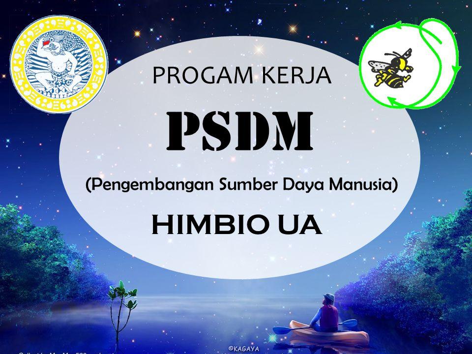 PROGAM KERJA (Pengembangan Sumber Daya Manusia) PSDM HIMBIO UA