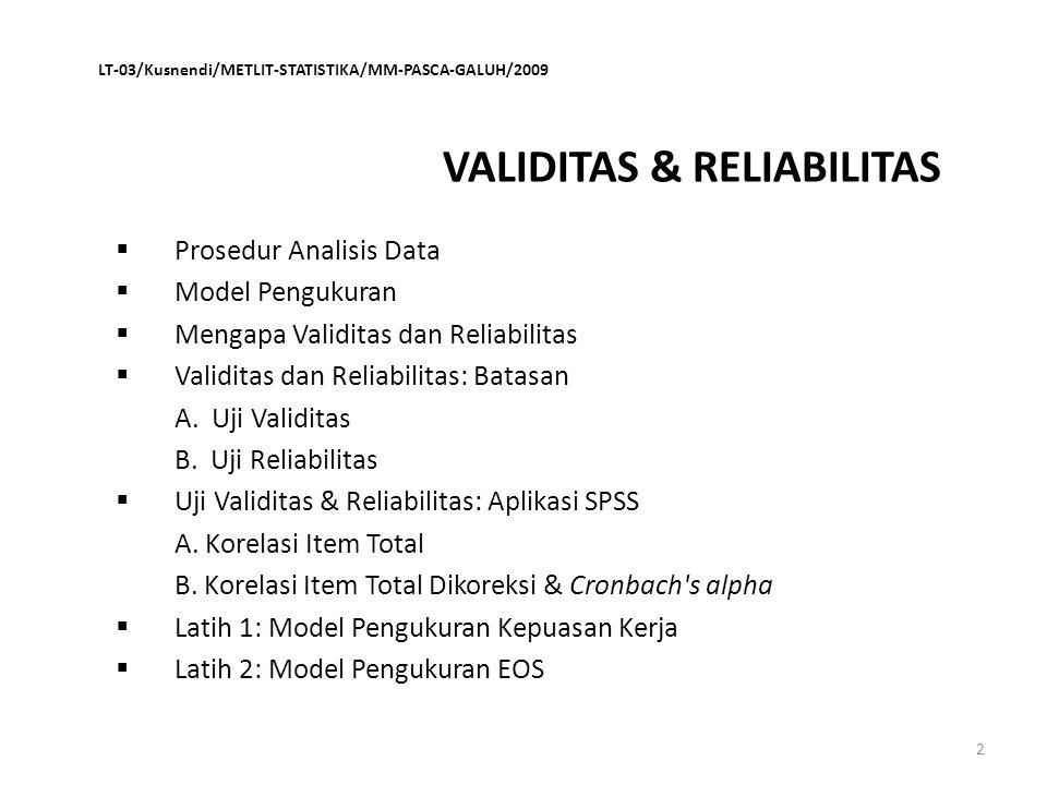 Reliability Scale: LATIH_3 VAL