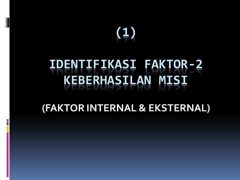 (FAKTOR INTERNAL & EKSTERNAL)