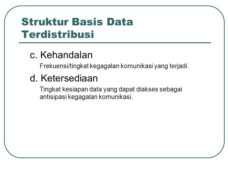 Jenis Transaksi Transaksi Lokal Transaksi yang mengakses data pada suatu simpul (mesin/server) yang sama dengan simpul dari mana transaksi tersebut dijalankan.