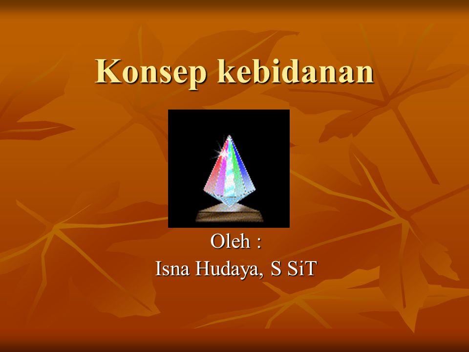 Konsep kebidanan Oleh : Isna Hudaya, S SiT