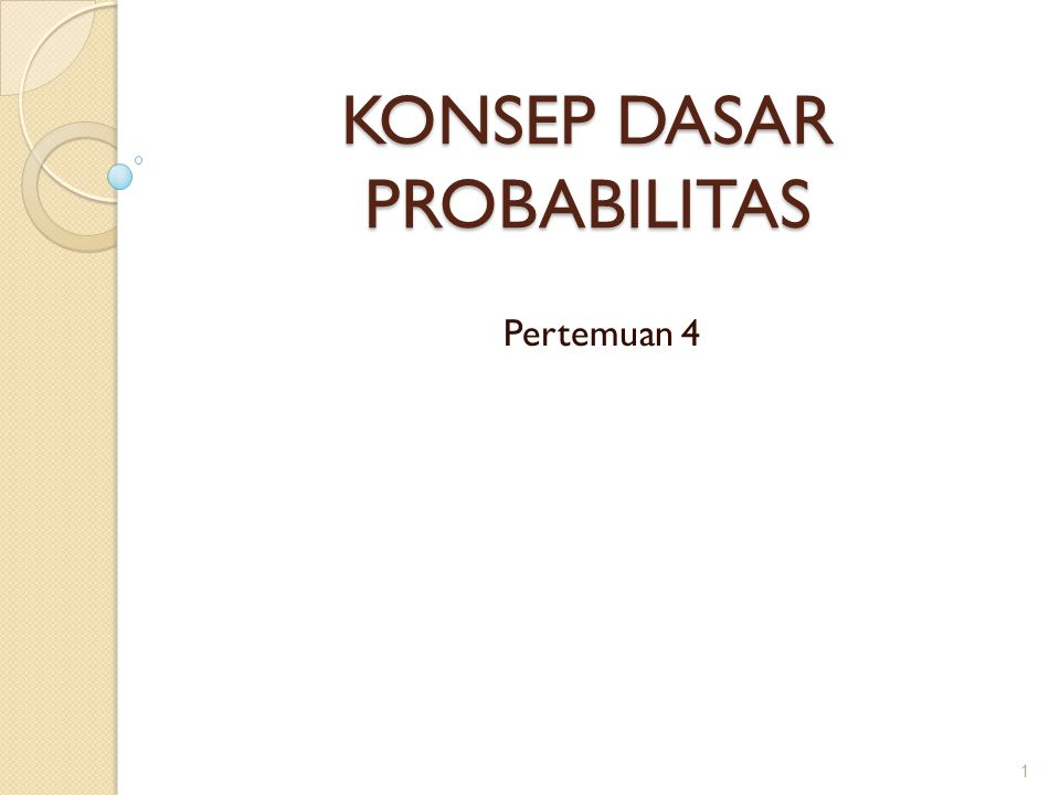 Aturan Bayes : Misalkan A1, A2, dan A3 adalah tiga kejadian saling lepas dalam ruang sampel S.