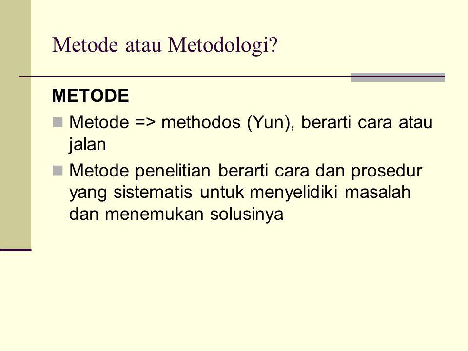Metode atau Metodologi.