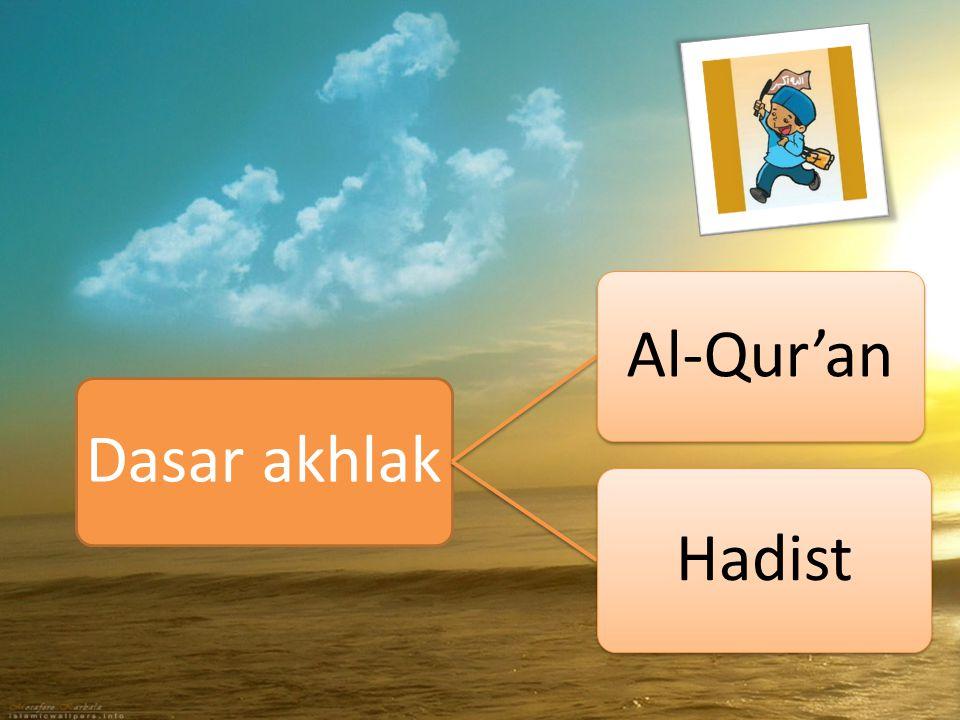 Dasar akhlak Al-Qur'an Hadist