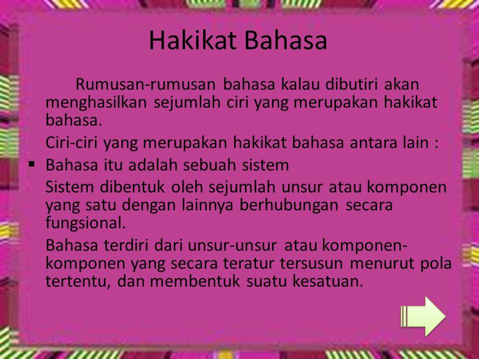 Kedudukan Bahasa Indonesia 1.Bahasa Nasional  Lambang kebanggaan Nasional.