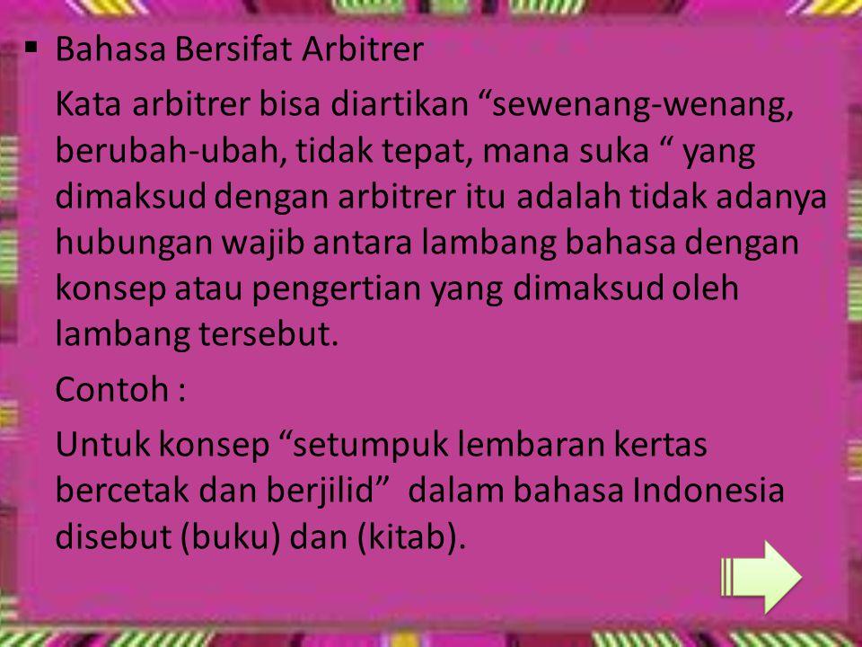 Fungsi Bahasa Indonesia Khusus Umum