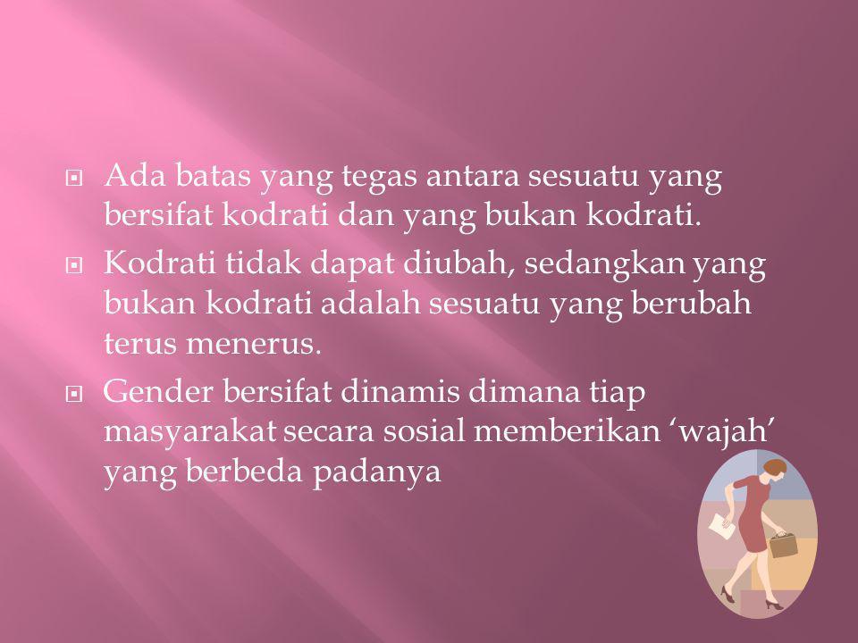  Jadi....Apa beda Gender dan Sex?  Bagaimana contohnya?