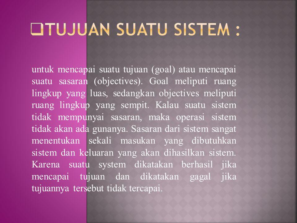 Konsep sistem telah berkembang menjadi Teori Sistem (The systems theory), yang menggunakan pendekatan interdisiplin untuk mempelajari sistem.