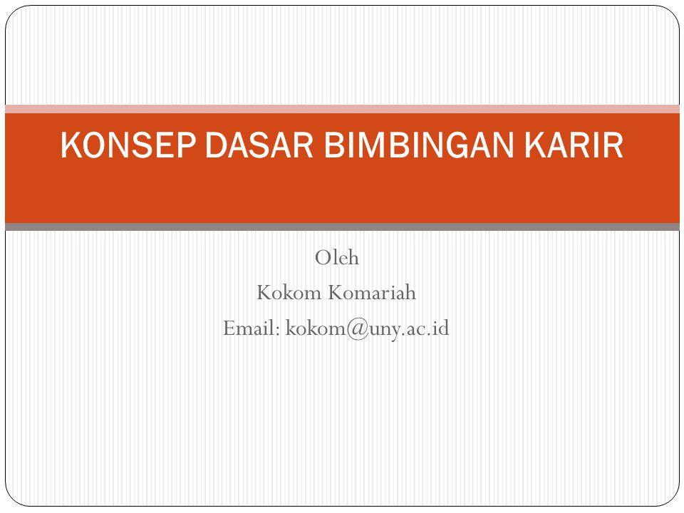 Oleh Kokom Komariah Email: kokom@uny.ac.id KONSEP DASAR BIMBINGAN KARIR