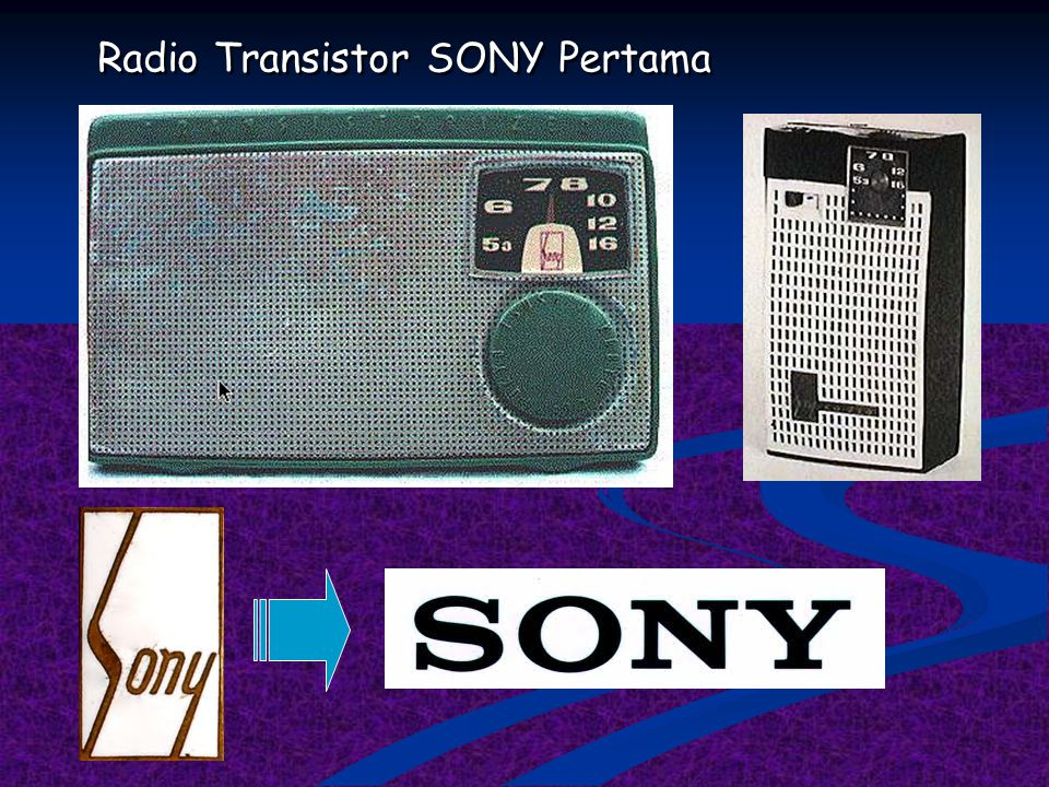 Contoh inovasi gadget SONY CORP.  Tahun 1950'an, SONY merakit radio transistor portable pertama di dunia, yang merupakan hasil inovasi dari radio tab