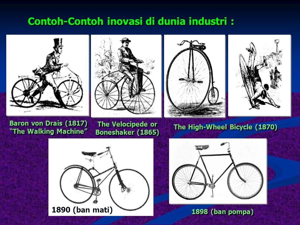 Mengapa harus inovatif ? Karena :  Pasar (konsumen) : mau lebih baik sekaligus lebih murah  Pesaing : mau merebut pangsa pasar dengan segala cara 