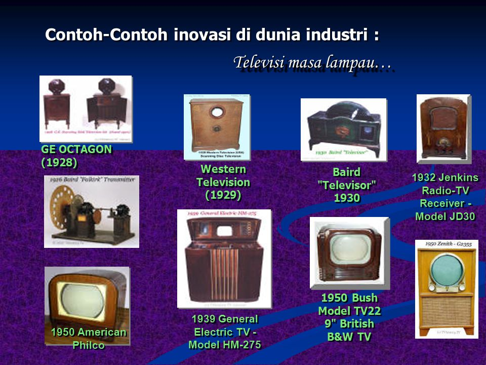 Contoh-Contoh inovasi di dunia industri : Televisi masa kini