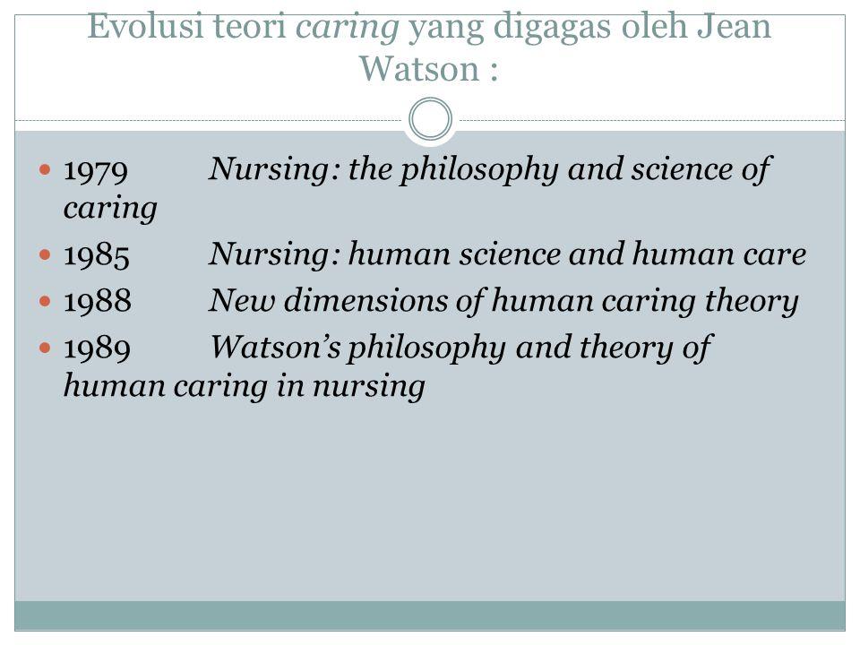Caring Suatu ilmu utk orientasi human science dan kemanusiaan terhadap proses, fenomena, dan pengalaman perawatan manusia.