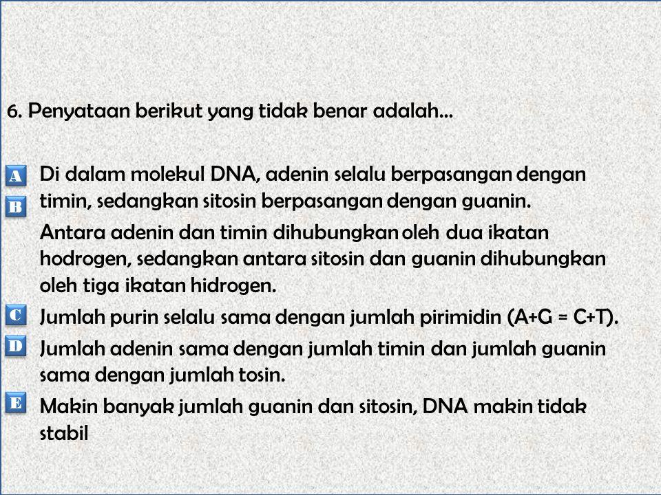 5. Bagian kromosom yang tidak mrmiliki gen, tetapi berfungsi pada saat pembelahan sel adalah…… Sentromer Lengan kromosom Kromonema Nukleosom Gelendong