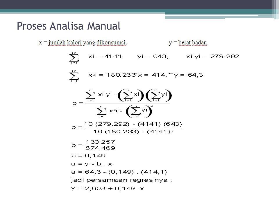 Proses Analisa Manual