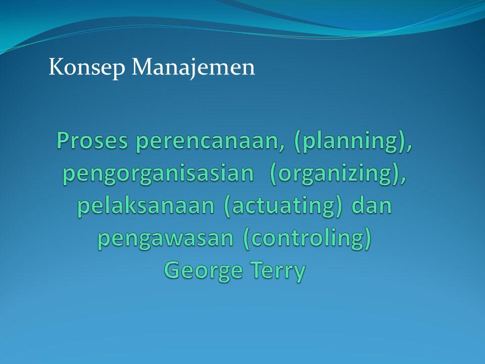 Kegiatan perusahaan dalam menganalisis, perencanaan, pengorganisasian.