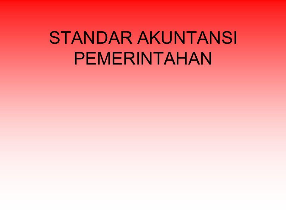 Pernyataan Standar Akuntansi Pemerintahan (PSAP)  PSAP No.
